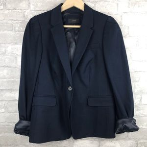 J. Crew | One Button Navy Blue Blazer